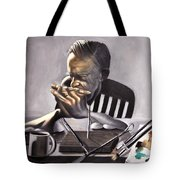 Coffee With Jesus Tote Bag by Anthony Falbo