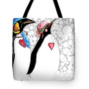 Cold Feet Warm Hearts Tote Bag by Eloise Schneider