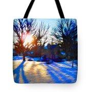 Cold Morning Sun Tote Bag by Jeff Kolker