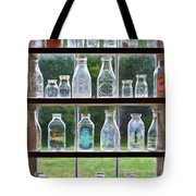 Collector - Bottles - Milk Bottles  Tote Bag by Mike Savad