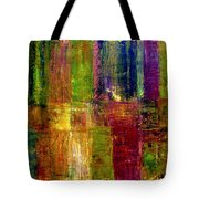 Color Panel Abstract Tote Bag by Michelle Calkins