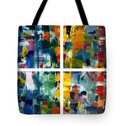 Color Relationships Collage Tote Bag by Michelle Calkins