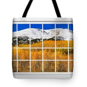 Colorado Rocky Mountain Autumn Pass White Window View  Tote Bag by James BO  Insogna