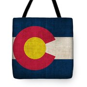 Colorado State Flag Tote Bag by Pixel Chimp