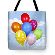 Colorful Balloons With Blue Sky Tote Bag by Elena Elisseeva