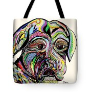 Colorful Boxer Tote Bag by Eloise Schneider