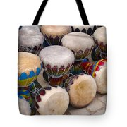 Colorful Congas Tote Bag by Carlos Caetano