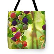 Colorful Grapes Tote Bag by Peggy Collins