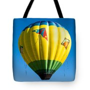 Colorful Hot Air Balloon Over Vermont Tote Bag by Edward Fielding