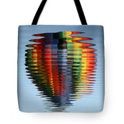 Colorful Hot Air Balloon Ripples Tote Bag by Carol Groenen