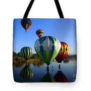 Colorful Landings Tote Bag by Mike  Dawson