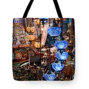 Colorful Traditional Turkish Lights  Tote Bag by Leyla Ismet