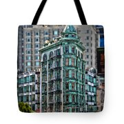 Columbus Tower In San Francisco Tote Bag by RicardMN Photography