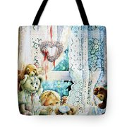 Come Out And Play Teddy Tote Bag by Hanne Lore Koehler