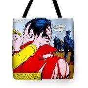 Comic Strip Kiss Tote Bag by MGL Studio