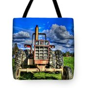 Coming Out Of A Heavy Action Tractor Tote Bag by Eti Reid