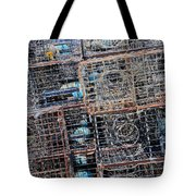 Commercial Fishing Pots Tote Bag by Heidi Smith