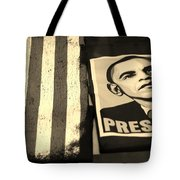 Commercialization Of The President Of The United States In Sepia Tote Bag by Rob Hans