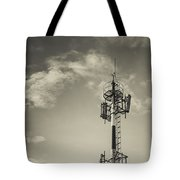 Communication Tower Tote Bag by Marco Oliveira
