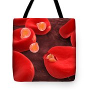 Conceptual Image Of Plasmodium Tote Bag by Stocktrek Images