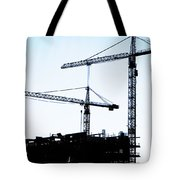 construction cranes Tote Bag by Antony McAulay