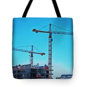 construction cranes HDR Tote Bag by Antony McAulay