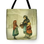 Conversation In The Snow Tote Bag by Pierre Edouard Frere
