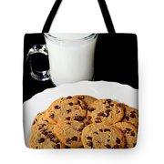 Cookies - Milk - Chocolate Chip - Baker Tote Bag by Andee Design