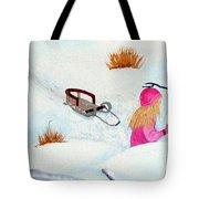 Cool  Winter Friend - Snowman - Fun Tote Bag by Barbara Griffin