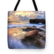 Coral Garden Tote Bag by Debra and Dave Vanderlaan