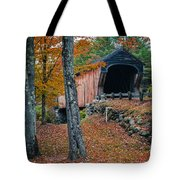 Corbin Covered Bridge Newport New Hampshire Tote Bag by Edward Fielding