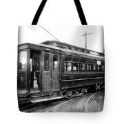Corbin Park Street Car No. 175 - 1915 Tote Bag by Daniel Hagerman