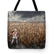 Corn Field Horror Tote Bag by Jt PhotoDesign
