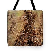 Corn Stalk Bales Tote Bag by Marcia Colelli