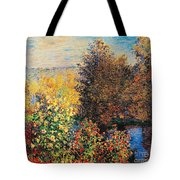 Corner Of Garden In Montgeron Tote Bag by Claude Monet