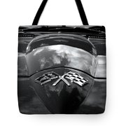 Corvette In Black And White Tote Bag by Bill Gallagher