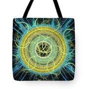 Cosmic Circle Fusion Tote Bag by Shawn Dall