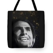 Cosmos- Carl Sagan Tote Bag by Simon Kregar