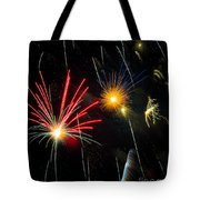 Cosmos Fireworks Tote Bag by Inge Johnsson