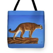 Cougar Cliff Tote Bag by Crista Forest