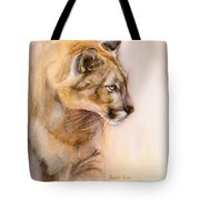 Cougar On The Prowl Tote Bag by Bonnie Rinier