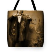 Count Dracula In Sepia Tote Bag by John Malone