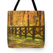 Country Fence Tote Bag by Geraldine DeBoer
