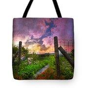 Country Garden Tote Bag by Debra and Dave Vanderlaan