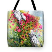 Country Rose Tote Bag by Janine Riley