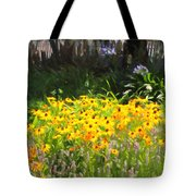 Countryside Cottage Garden 5D24560 long Tote Bag by Wingsdomain Art and Photography