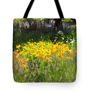 Countryside Cottage Garden 5D24560 Tote Bag by Wingsdomain Art and Photography