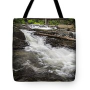 Covered Bridge And Waterfall Tote Bag by Edward Fielding