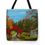 Covered Bridge Tote Bag by Anthony Dunphy