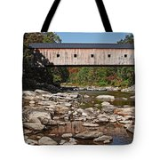 Covered Bridge Vermont Tote Bag by Edward Fielding